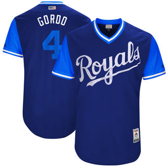 Men's Kansas City Royals Alex Gordon Gordo Majestic Royal 2017 Players Weekend Authentic Jersey