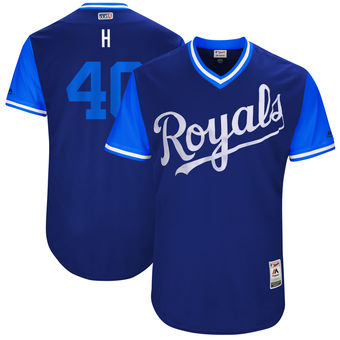 Men's Kansas City Royals Kelvin Herrera H Majestic Royal 2017 Players Weekend Authentic Jersey