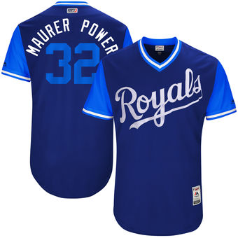 Men's Kansas City Royals Brandon Maurer Maurer Power Majestic Royal 2017 Players Weekend Authentic Jersey