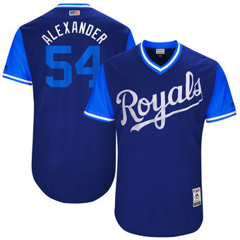 Men's Kansas City Royals Scott Alexander Alexander Majestic Royal 2017 Players Weekend Authentic Jersey