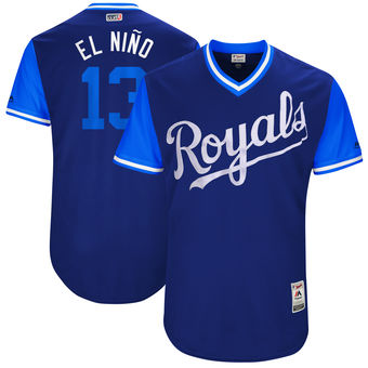 Men's Kansas City Royals Salvador Perez El Nino Majestic Royal 2017 Players Weekend Authentic Jersey