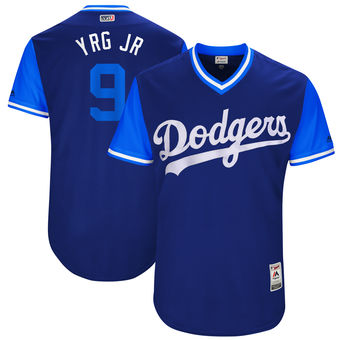 Men's Los Angeles Dodgers Yasmani Grandal YRG JR Majestic Royal 2017 Players Weekend Authentic Jersey