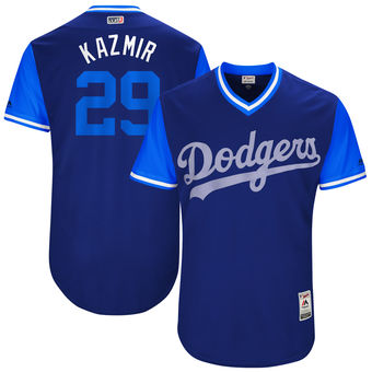 Men's Los Angeles Dodgers Scott Kazmir Kazmir Majestic Royal 2017 Players Weekend Authentic Jersey