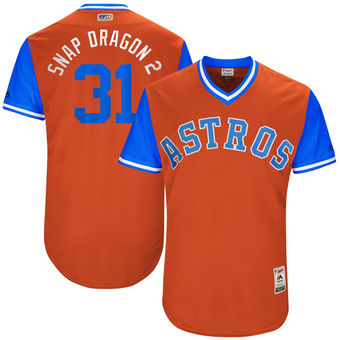 Men's Houston Astros Collin McHugh Snap Dragon 2 Majestic Orange 2017 Players Weekend Authentic Jersey