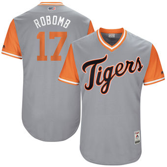 Men's Detroit Tigers Andrew Romine RoBomb Majestic Gray 2017 Players Weekend Authentic Jersey