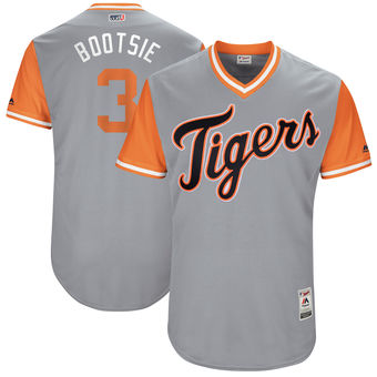Men's Detroit Tigers Ian Kinsler Bootsie Majestic Gray 2017 Players Weekend Authentic Jersey