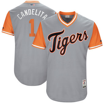 Men's Detroit Tigers Jose Iglesias Candelita Majestic Gray 2017 Players Weekend Authentic Jersey
