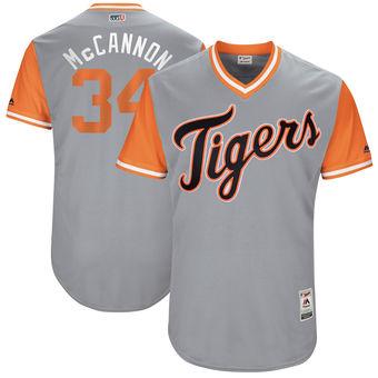 Men's Detroit Tigers James McCann McCannon Majestic Gray 2017 Players Weekend Authentic Jersey