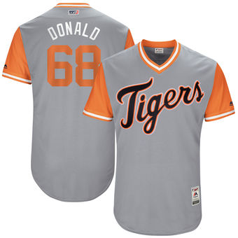 Men's Detroit Tigers Daniel Stumpf Donald Majestic Gray 2017 Players Weekend Authentic Jersey