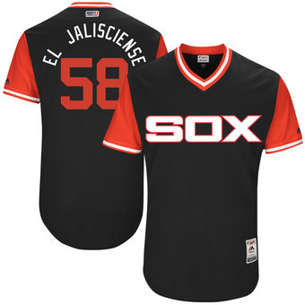 Men's Chicago White Sox Miguel Gonzalez El Jalisciense Majestic Black 2017 Players Weekend Authentic Jersey