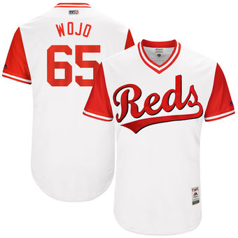 Men's Cincinnati Reds Asher Wojciechowski Wojo Majestic White 2017 Players Weekend Authentic Jersey