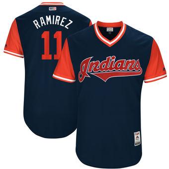 Men's Cleveland Indians Jose Ramirez Ramirez Majestic Navy 2017 Players Weekend Authentic Jersey