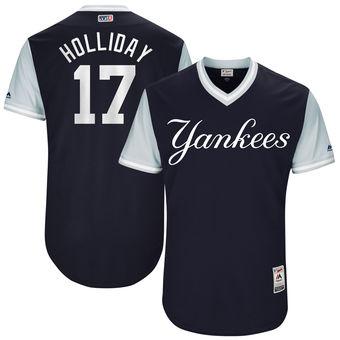 Men's New York Yankees Matt Holliday Holliday Majestic Navy 2017 Players Weekend Authentic Jersey