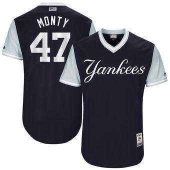 Men's New York Yankees Jordan Montgomery Monty Majestic Navy 2017 Players Weekend Authentic Jersey