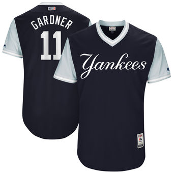 Men's New York Yankees Brett Gardner Gardner Majestic Navy 2017 Players Weekend Authentic Jersey