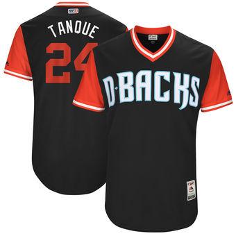 Men's Arizona Diamondbacks Yasmany Tomás Tanque Majestic Black 2017 Players Weekend Authentic Jersey