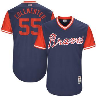 Men's Atlanta Braves Josh Collmenter Collmenter Majestic Navy 2017 Players Weekend Authentic Jersey