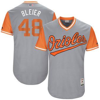 Men's Baltimore Orioles Richard Bleier Bleier Majestic Gray 2017 Players Weekend Authentic Jersey