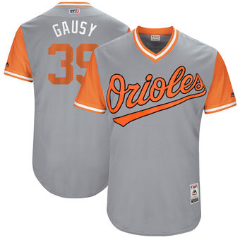 Men's Baltimore Orioles Kevin Gausman Gausy Majestic Gray 2017 Players Weekend Authentic Jersey