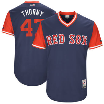 Men's Boston Red Sox Tyler Thornburg Thorny Majestic Navy 2017 Players Weekend Authentic Jersey
