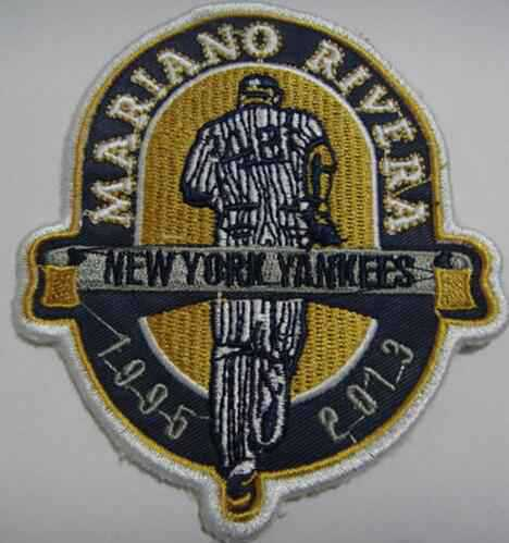 2013 New York Yankees 42 Mariano Rivera Retirement Patch