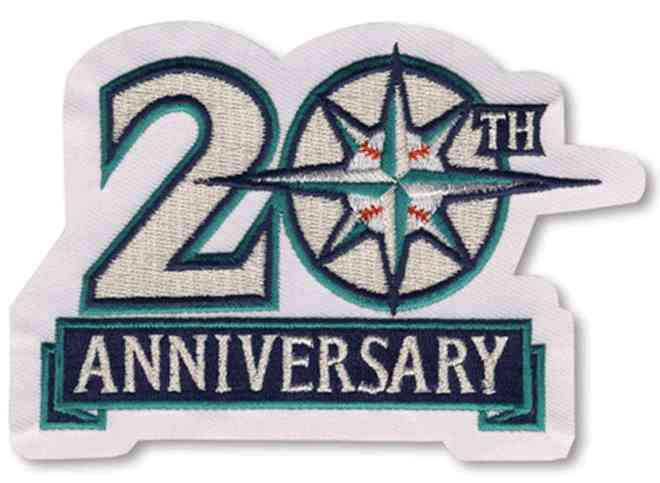 1996 Seattle Mariners 20th Anniversary Patch