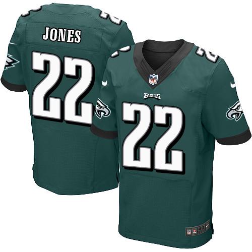 Nike Philadelphia Eagles #22 Sidney Jones Midnight Green Team Color Men's Stitched NFL New Elite Jersey