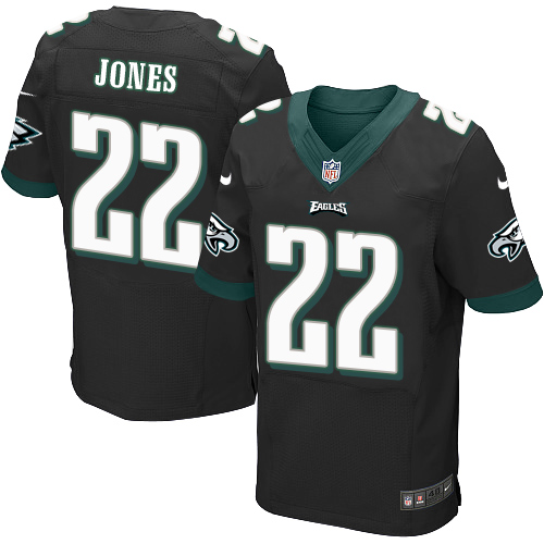 Nike Philadelphia Eagles #22 Sidney Jones Black Alternate Men's Stitched NFL New Elite Jersey