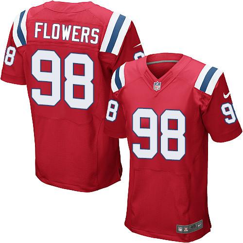 Nike New England Patriots #98 Trey Flowers Red Alternate Men's Stitched NFL Elite Jersey