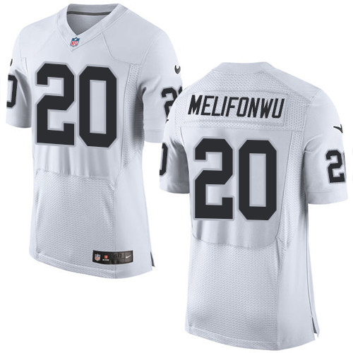 Nike Oakland Raiders #20 Obi Melifonwu White Men's Stitched NFL New Elite Jersey