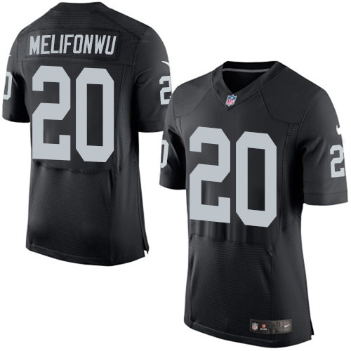 Nike Oakland Raiders #20 Obi Melifonwu Black Team Color Men's Stitched NFL New Elite Jersey