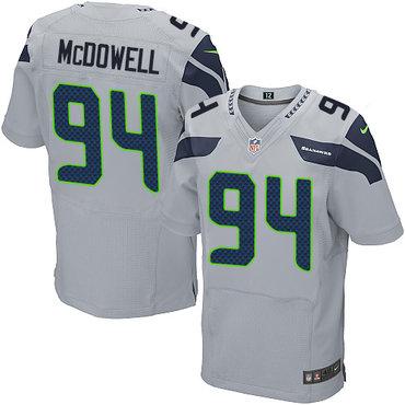 Nike Seattle Seahawks  94 Malik McDowell Grey Alternate Men s Stitched NFL  Elite Jersey f3f3238ea