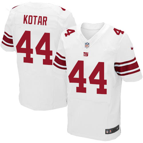 Nike New York Giants #44 Doug Kotar White Men's Stitched NFL Elite Jersey