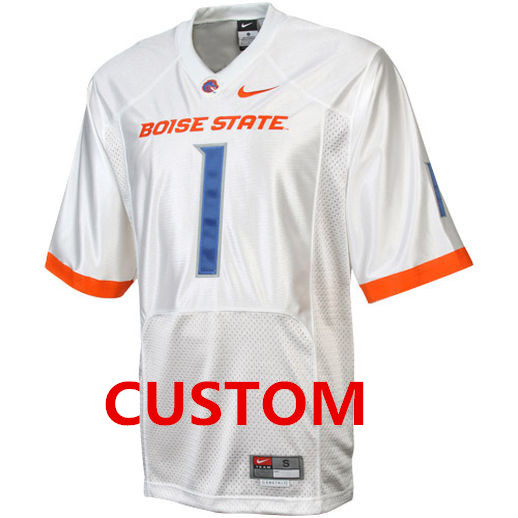 Custom boise state broncos white jersey on sale for cheap for Boise t shirt printing