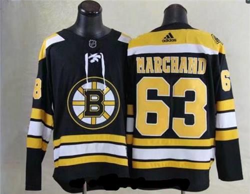 Men's Boston Bruins #63 Brad Marchand Black 2017-2018 adidas Hockey Stitched NHL Jersey