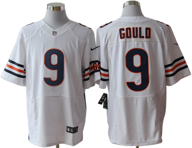 00606e6c ... Size 60 4XL-Robbie Gould Chicago Bears 9 White Stitched Nike Elite NFL  Jerseys ...