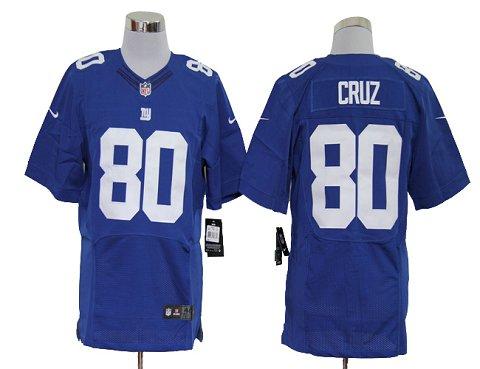 Size 60 4XL-Victor Cruz New York Giants #80 Blue Stitched Nike Elite NFL Jerseys