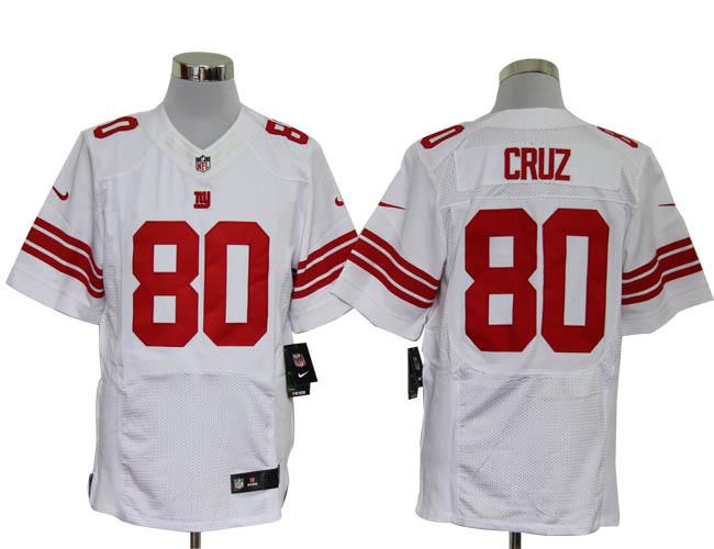 Size 60 4XL-Victor Cruz New York Giants #80 White Stitched Nike Elite NFL Jerseys