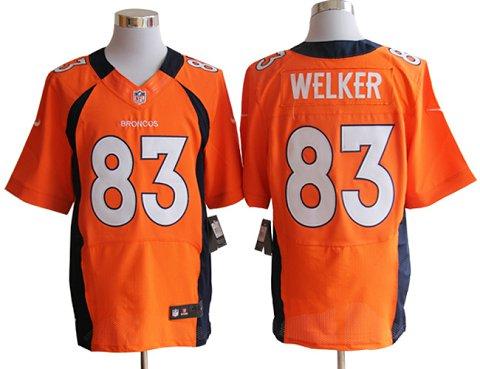 Size 60 4XL-Welker Denver Broncos #83 Orange Stitched Nike Elite NFL Jerseys