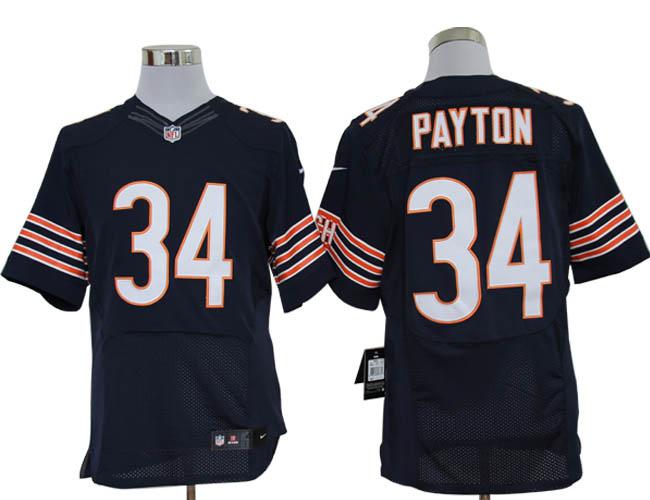a08d5d5d7 ... Size 60 4XL-Walter Payton Chicago Bears 34 Blue Stitched Nike Elite NFL  Jerseys ...
