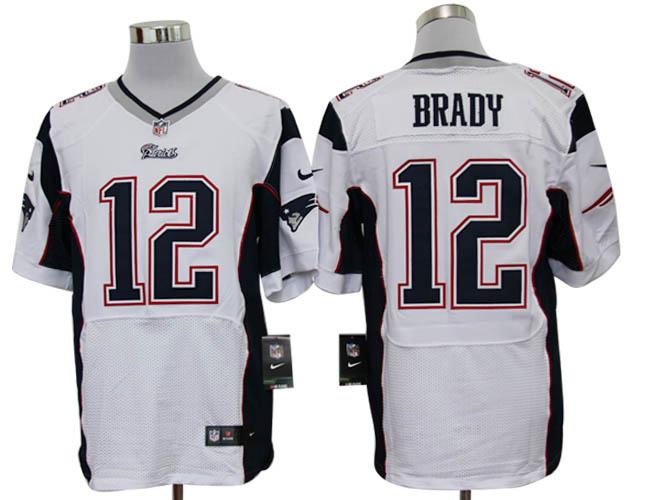 the best attitude 4dce5 7ae9a Size 60 4XL-Tom Brady New England Patriots  12 White Stitched Nike ...