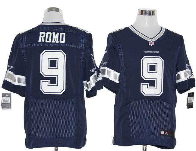 Size 60 4XL-Tony Romo Dallas Cowboys #9 Navy Blue Stitched Nike Elite NFL Jerseys