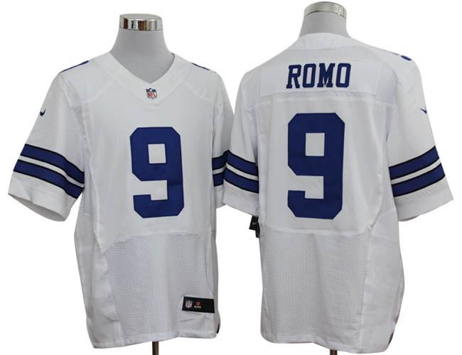 Size 60 4XL-Tony Romo Dallas Cowboys #9 White Stitched Nike Elite NFL Jerseys