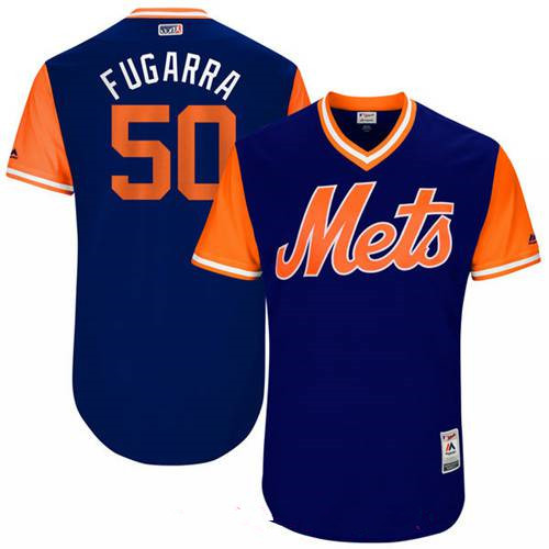 Men's New York Mets Rafael Montero Fugarra Majestic Royal 2017 Little League World Series Players Weekend Stitched Nickname Jersey