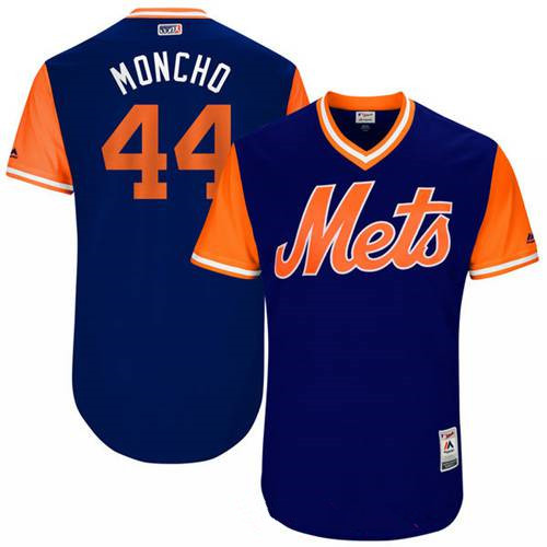 Men's New York Mets Rene Rivera Moncho Majestic Royal 2017 Little League World Series Players Weekend Stitched Nickname Jersey