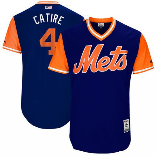 Men's New York Mets Wilmer Flores Catire Majestic Royal 2017 Little League World Series Players Weekend Stitched Nickname Jersey