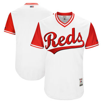 a06fd099 Custom Men's Cincinnati Reds Majestic White 2017 Players Weekend Authentic  Team Jersey