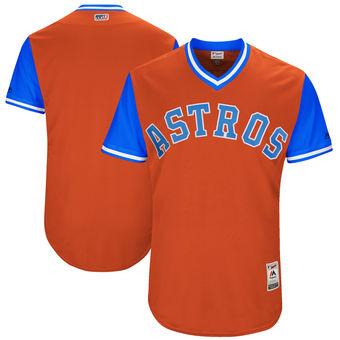 Custom Men's Houston Astros Majestic Orange 2017 Players Weekend Authentic Team Jersey