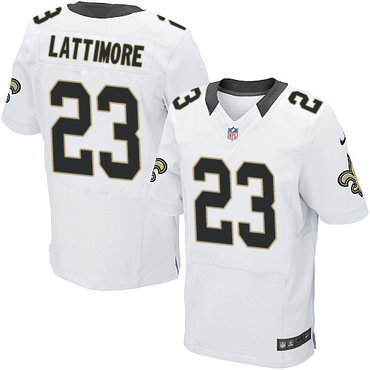 Nike New Orleans Saints #23 Marshon Lattimore White Men's Stitched NFL Elite Jersey
