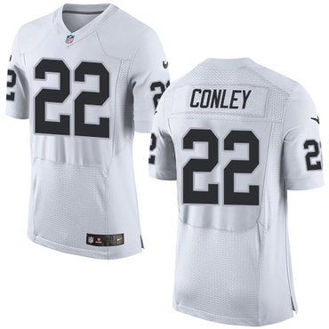 Nike Oakland Raiders #22 Gareon Conley White Men's Stitched NFL New Elite Jersey